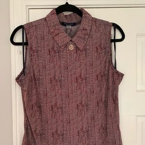 Tommy Hilfiger Sleeveless Shirt, Med, New w Tags